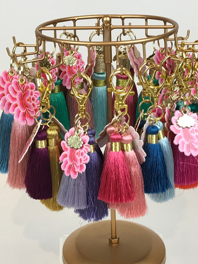 Tassel colorful Keychains