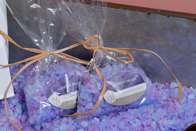 Lavender bath salts by the scoop