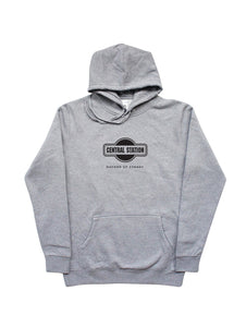 Central Station Sydney Grey Hoodie w/ Black Centered Logo