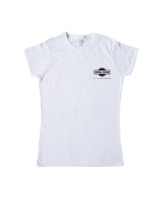 Central Station, City Square Melbourne White Tee w/ Black Logo Ladies