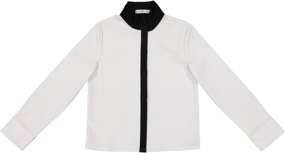 Coco Blanc Black and White Dress Shirt