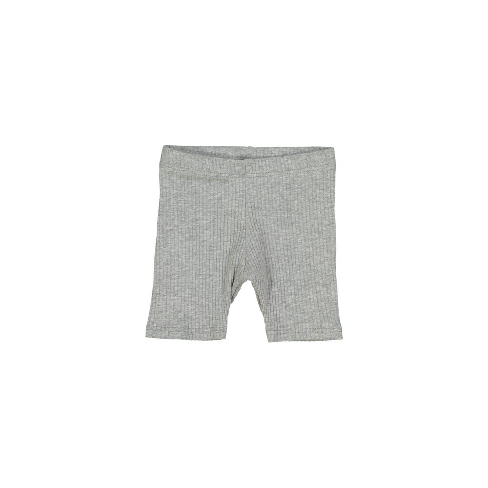 Petals & Peas Ribbed Shorts - Heather Grey