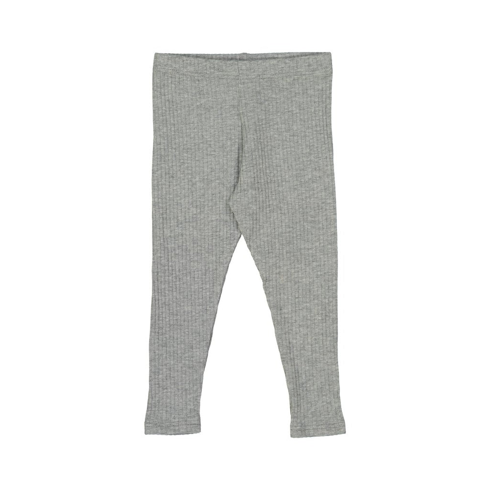 Petals & Peas Ribbed Leggings - Heather Grey
