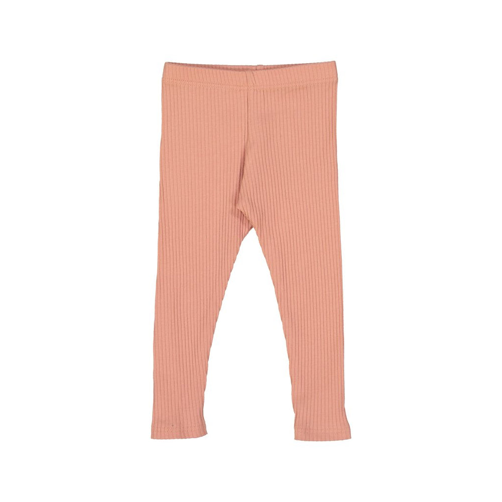 Petals & Peas Ribbed Leggings - Apricot