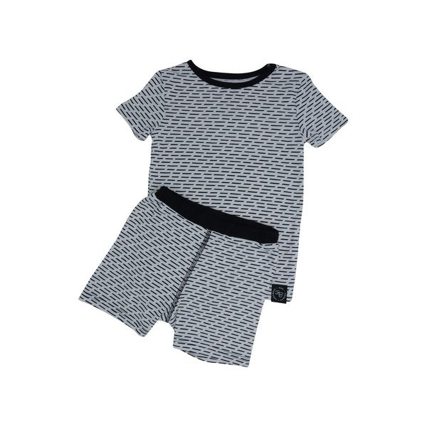 Sweet Bamboo Black & White Summer Pajamas