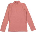 Coco Blanc Ribbed Turtleneck - Dusty Pink