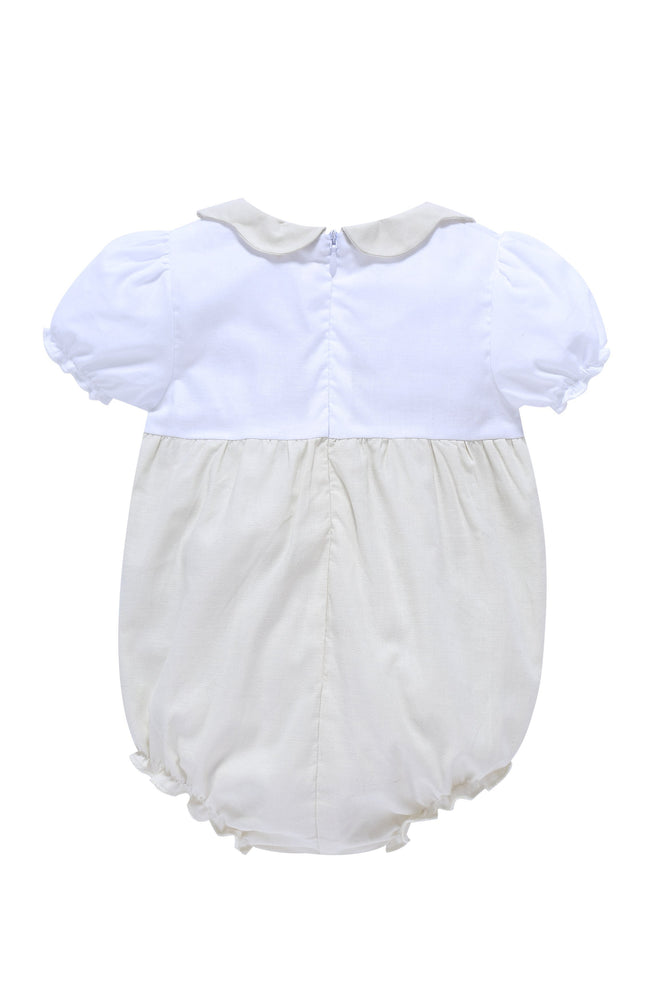 Petit Clair Baby Bubble Romper - Cream