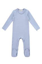 Petit Clair Baby Footsie - Light Blue