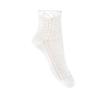 Condor Ankle Sock with Bow - White