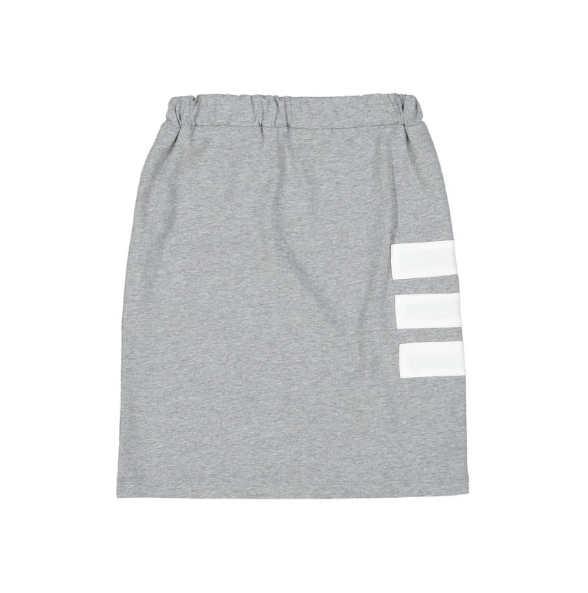 Three Bows Sporty Stripe Skirt - Grey
