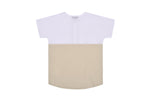 Petit Clair Boys Cream and White Contrast Shirt