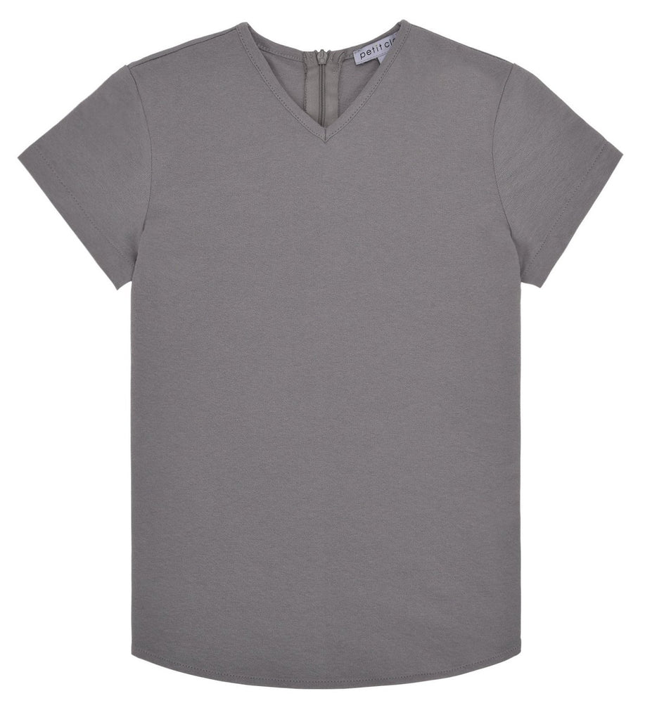 Petit Clair Boys V-neck Top - Grey