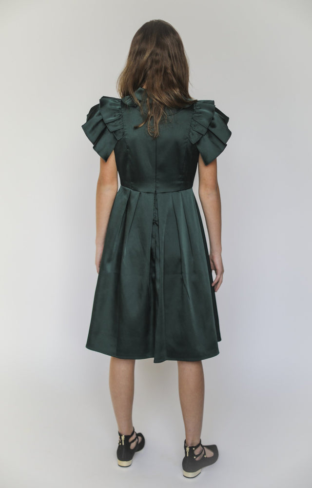 Aisabobo Hunter Green Pleat Dress
