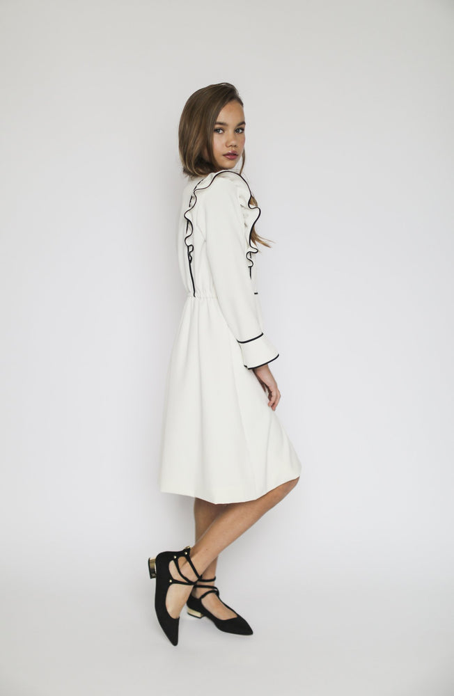 Aisabobo Flutter Dress - White