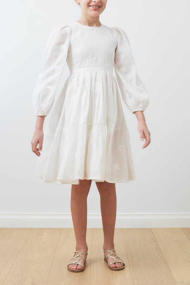 Petite Amalie Embroidered Butterfly Dress