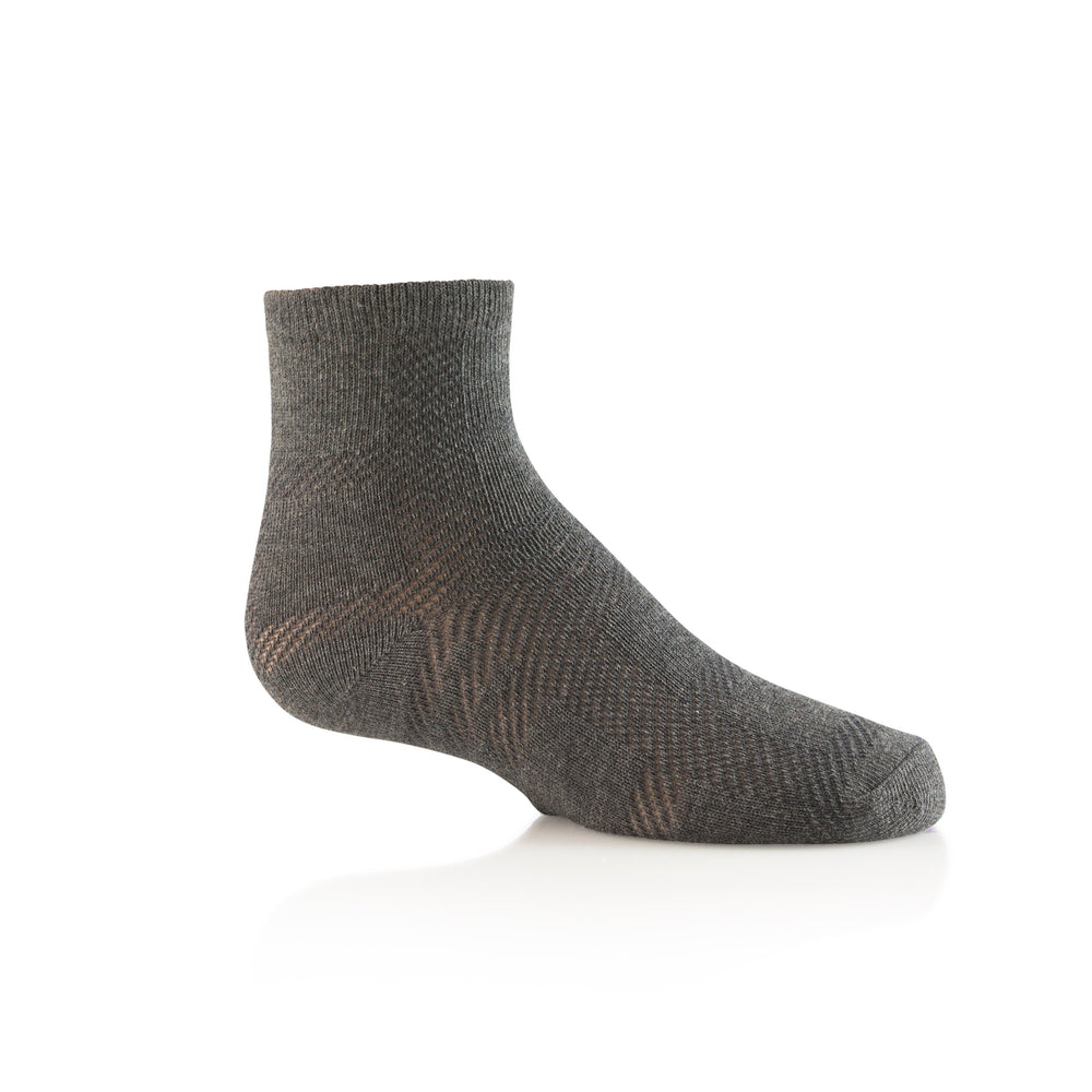 Zubii Plaid Ankle Sock - Charcoal