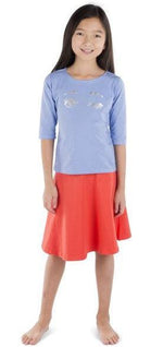 Three Bows Camp Skirt - Coral