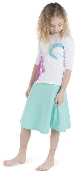 Three Bows Camp Skirt - Aqua