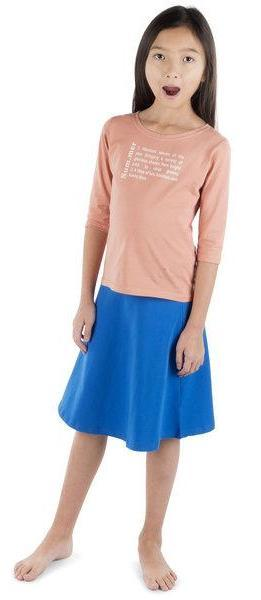 Three Bows Camp Skirt - Royal Blue