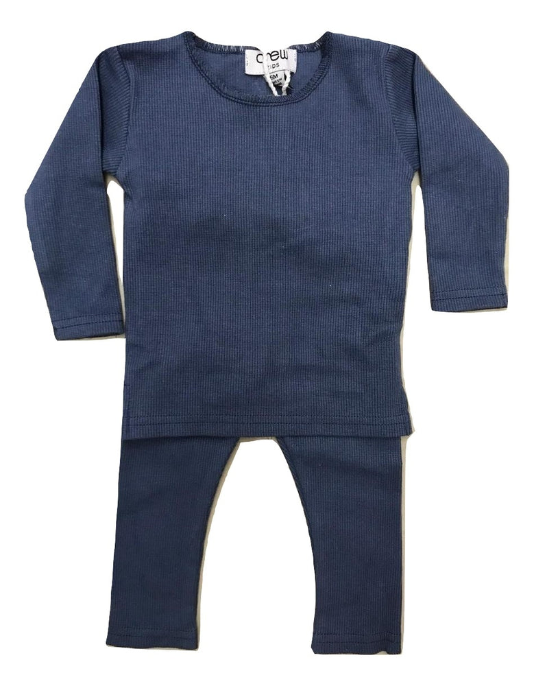 Crew Kids Ribbed Baby Set - Blue