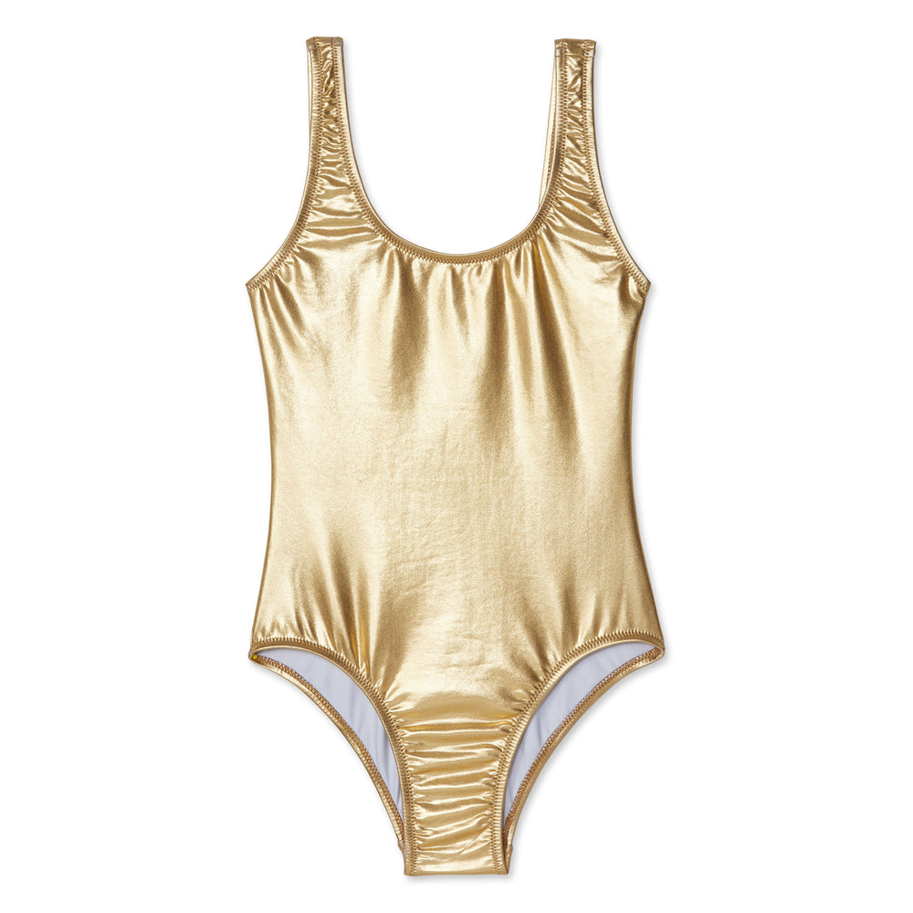 Stella Cove Metallic Gold Swimsuit