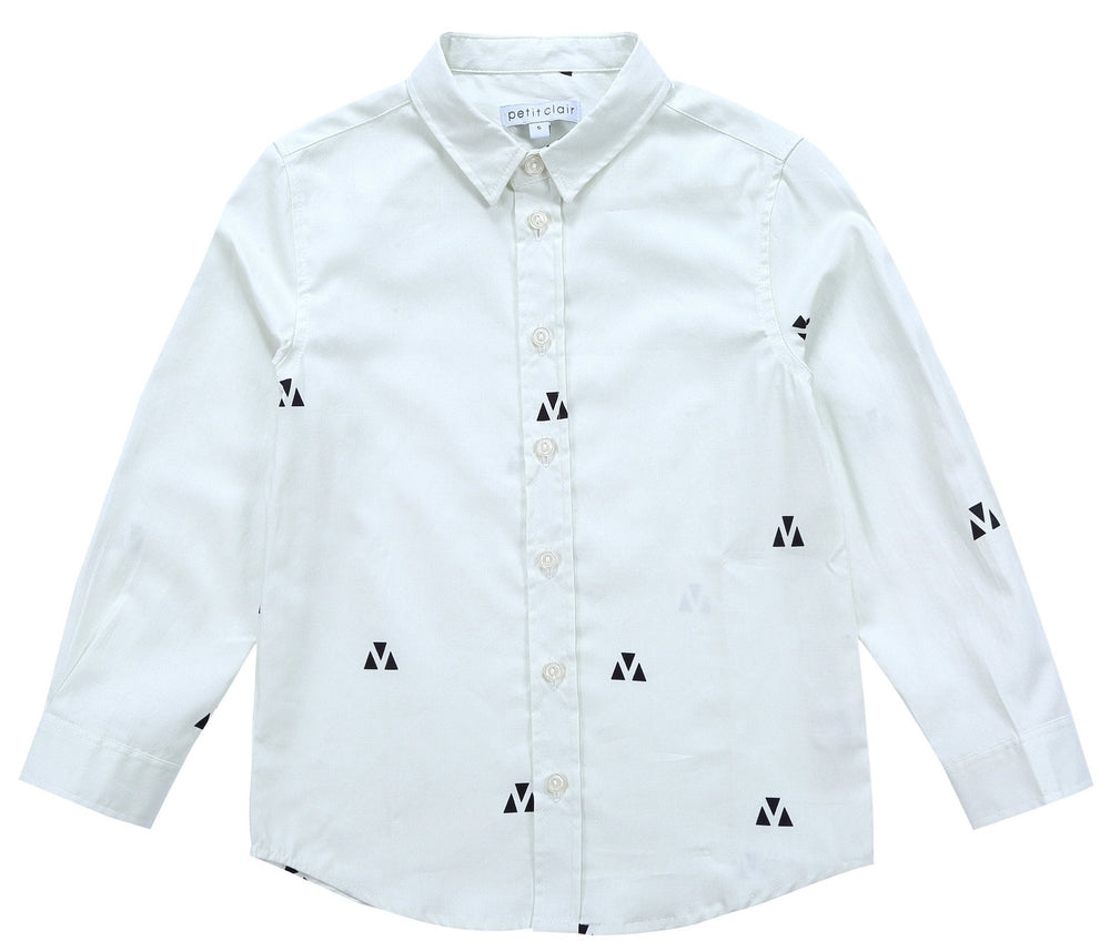 Petit Clair Boys Triangle Print Collar Shirt
