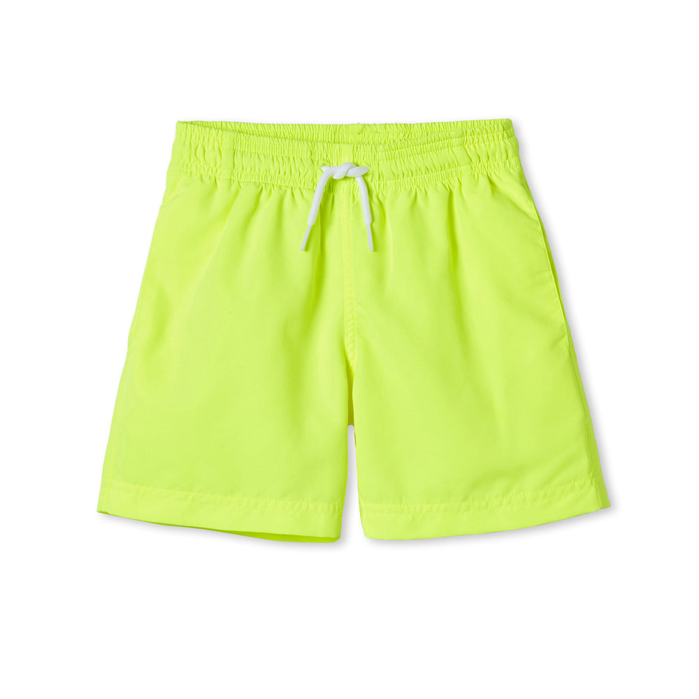 Stella Cove Neon Yellow Boys Swim Trunks