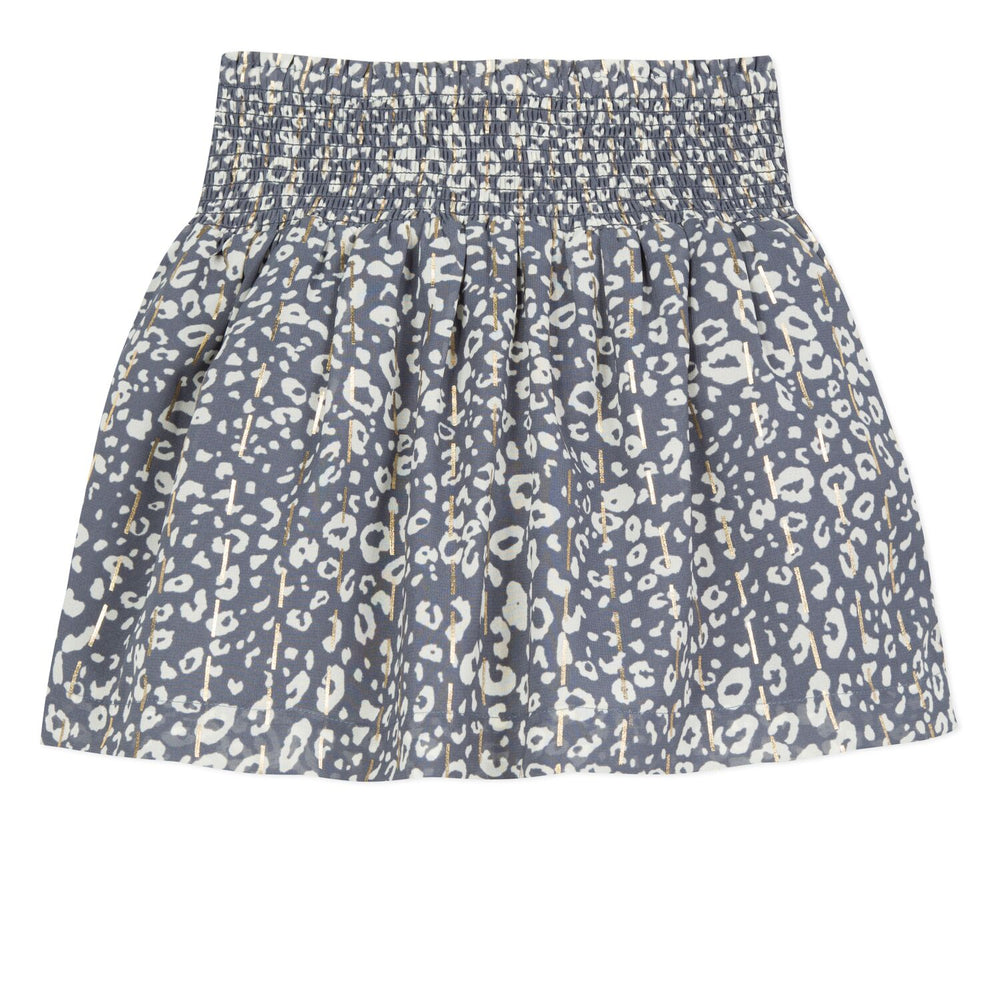 Lili Gaufrette Animal Print Skirt