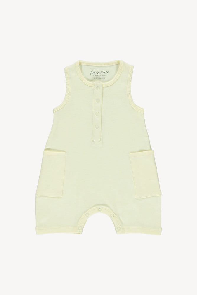Fin & Vince Short Jumpsuit - Buttercream