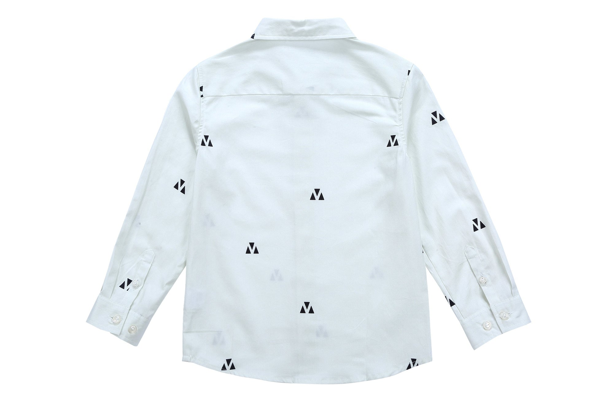 e4d580019 Petit Clair Boys Triangle Print Collar Shirt. Petit Clair Boys Triangle  Print Collar Shirt