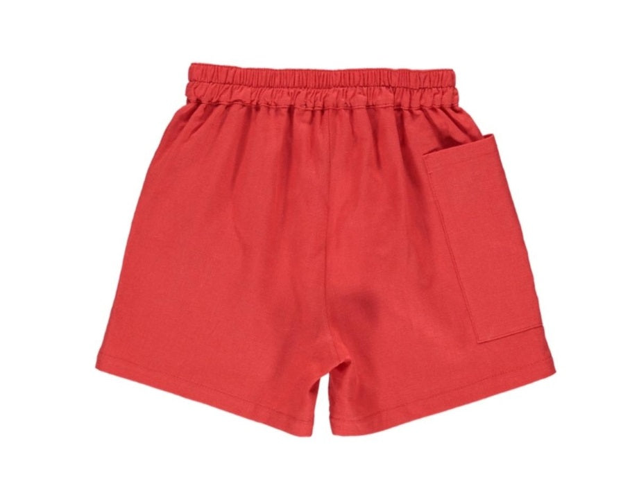 Fin & Vince Shorts  - Brick Red