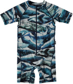 Molo Baby Swimsuit - Blue Whale