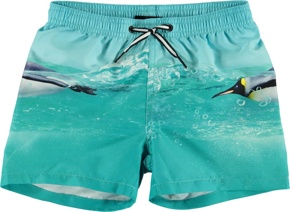 Molo Penguin Swim Trunks
