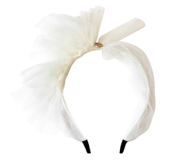 Halo Luxe Tutu Crown Headband - Pearl