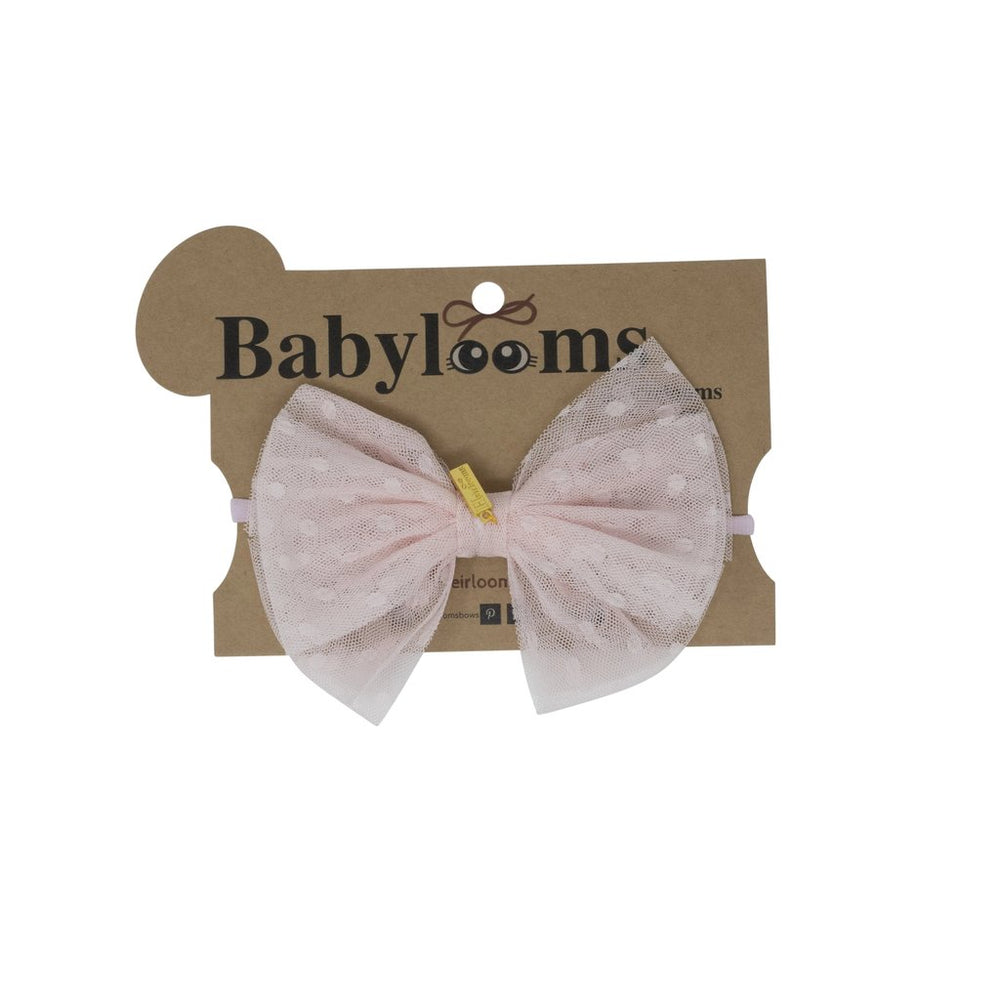 Heirlooms Tulle with Dots Baby Headband - Pink