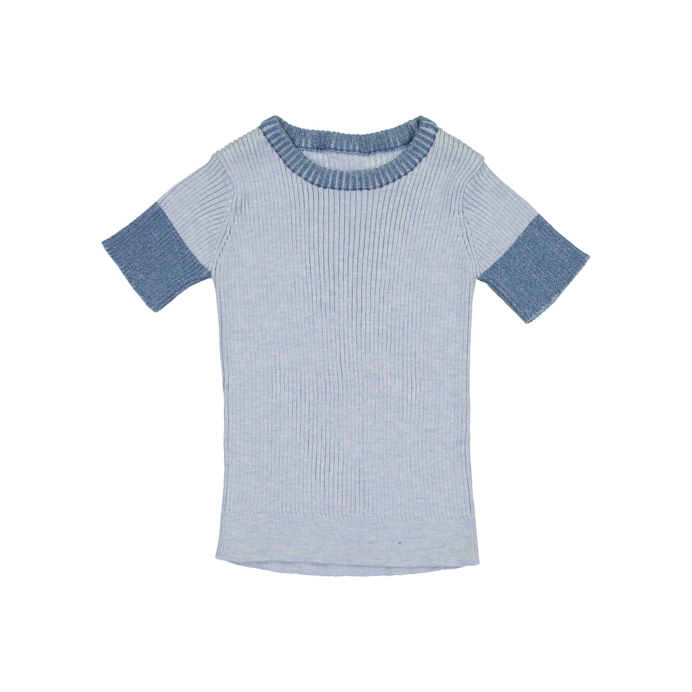 Belati Knit Ribbed Top - Indigo