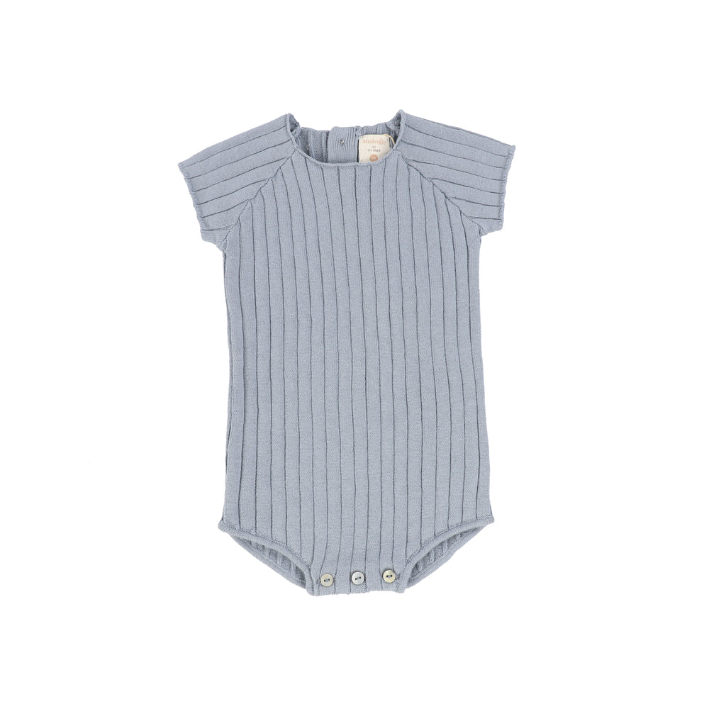 Analogie by Lil Legs Knit Romper - Blue