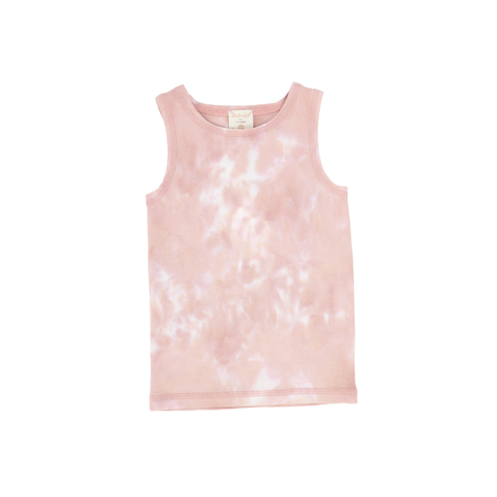 Analogie by Lil Legs Watercolor Tank - Blush