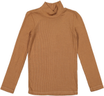 Coco Blanc Ribbed Turtleneck - Camel