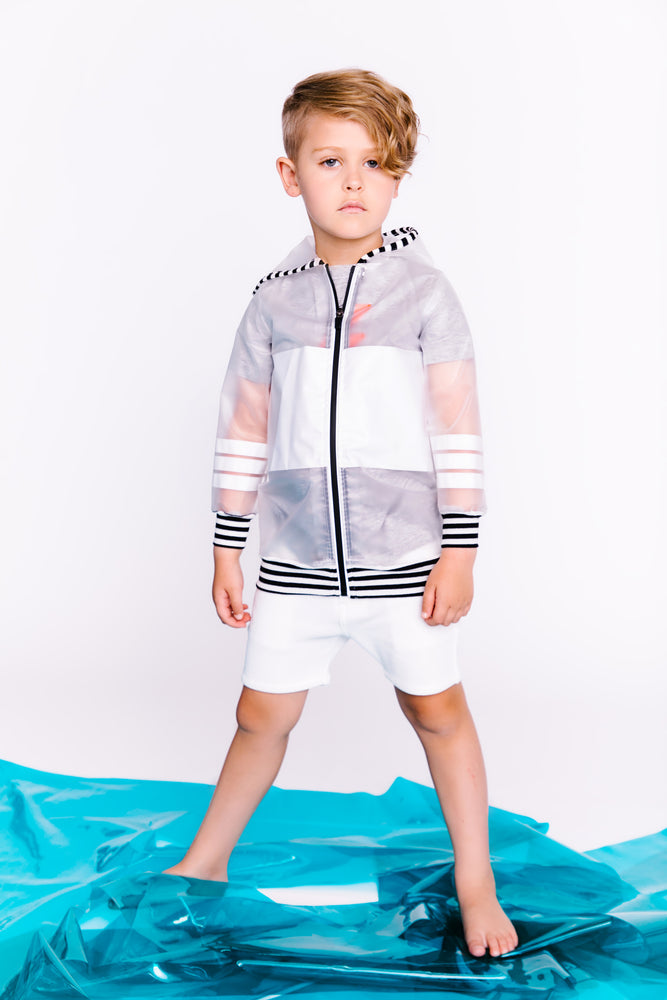 Crew Kids Sports Stripe Raincoat