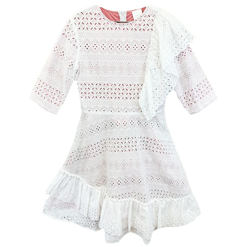 Meme Teen White Eyelet Dress