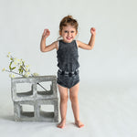 Analogie by Lil Legs Denim Wash Bloomer - Black