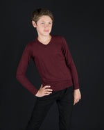 Coco Blanc V-neck Sweater - Maroon