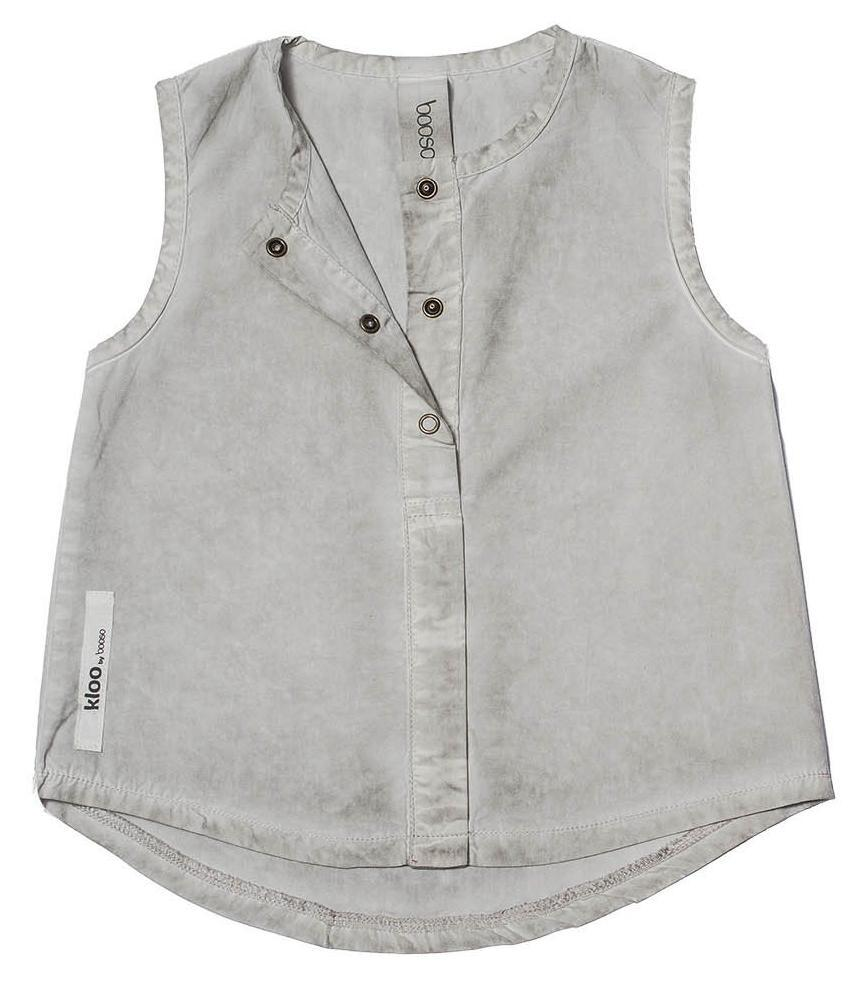 Booso Sleeveless Wind Top - Grey