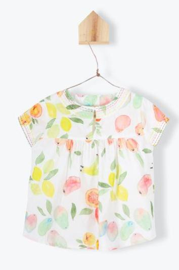 Arsene Baby Blouse - Fruit Print