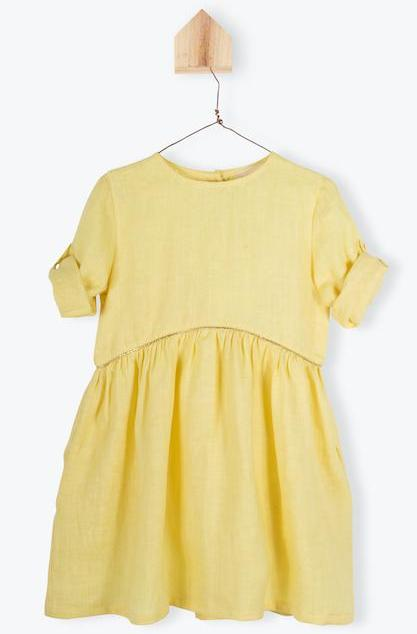 Arsene Yellow Linen Dress