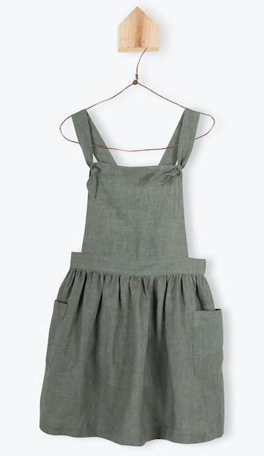 Arsene Green Apron Dress