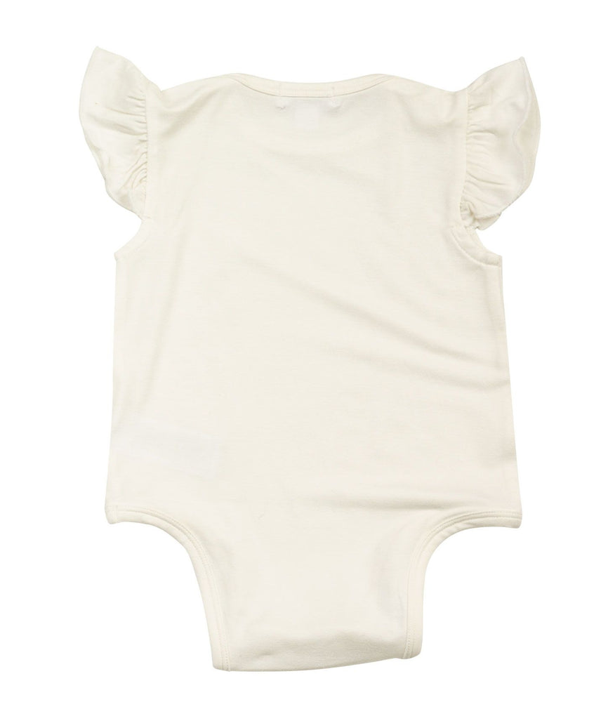 Angel Dear Ruffle Sleeve Onesie - Ivory