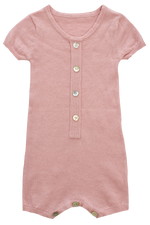 Kipp Knit Button Romper - Blush