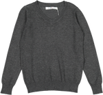 Coco Blanc V-neck Sweater - Dark Grey